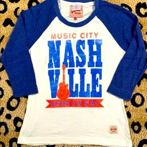 Nashville Music City Grand Ole Opry Raglan Tee
